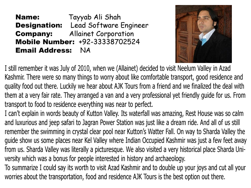 Tourism in Ajk