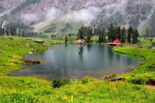 Rainbow lake Astore valley