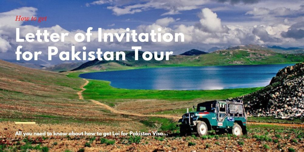 process to get letter of invitation for pakistan