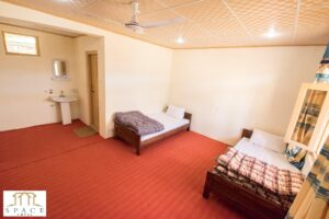 Space Hotel Shigar standard twin bed